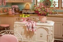 Shabby kitchen makeover / by ♔ Norma Pederson ♔