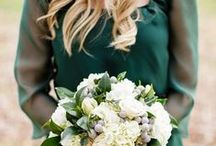 E M E R A L D / W E D D I N G S / Emerald Green Wedding Palette Inspiration for brides, brides-to-be, and grooms.
