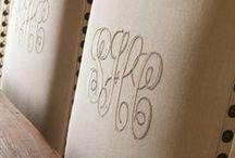 - Monogram - / by Fabrics & Furnishings