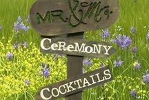Directional Signs / Create your own directional signs for weddings, parties, Easter or garden markers.