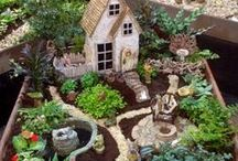 Fairies and Fairy Garden / Create your own magical garden by creating a miniature landscape filled with fairies, gnomes and more. Fairies are very trendy right now, check these out!