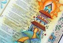 Bible Journaling / Learn more about art worship in your Bible margins.