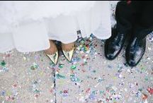 Wedding Confetti // / A wedding is NOT a wedding without confetti! OK, lucky I pinned some alternative ideas for you too ;)