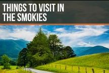 Things to visit in the Smokies / The Great Smoky Mountains National Park is a place you should definitely visit and put on your bucket list! Until then, be sure to enjoy the views from our Pinterest board!