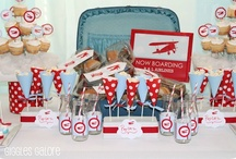 Airplane themed Bday party / Airplane Theme Inspiration