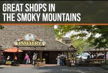 Great Shops in the Smoky Mountains / When you visit the Smokies, you can't help but do a little shopping while you're here. There's so many places to go with your friends, family or group and you'll absolutely love the shops and unique shopping areas throughout the Gatlinburg, Pigeon Forge and Sevierville area.