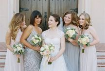 Beautiful Bridesmaids // / The sign of a confident, stylish bride? Awesome bridesmaids!