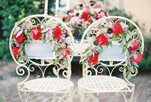 Wedding Chair Ideas // / Never ever underestimate wedding chairs. They don't have to be covered in cheap looking fabric and bows...