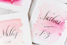 Watercolour Weddings // / Watercolour wedding inspiration for the artsy loving bride!