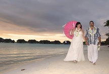 our dream wedding in Bora Bora / Our Bora Bora lagoon wedding complete with Tahitian traditions at the Thalasso Spa and Resort.