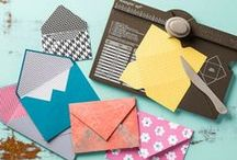 Envelope Punch Board / Cards, projects and ideas using Stampin' Up!'s envelope punch board.