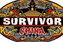 Top 5 Survivor Logos / 1. China 2. The Australian Outback 3. Philippines 4. Pearl Islands 5. Blood vs Water  Honourable Mention: - Guatemala - The Maya Empire - Fiji - Heroes vs Villains - Samoa - Palau