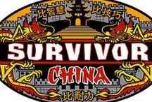 Top 5 Survivor Logos / 1. China 2. The Australian Outback 3. Philippines 4. Pearl Islands 5. Blood vs Water  Honourable Mention: - Guatemala - The Maya Empire - Fiji - Heroes vs Villains - Samoa - Palau