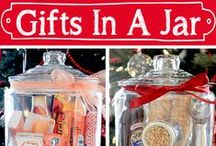"Gifts in a Jar / DIY gifts that come in a jar.  Also see ""Recipes: Jar Recipes"" for some food ideas."