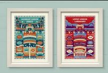 London Art Prints & Cards / A range of art prints and greeting cards from The Typecast Gallery.