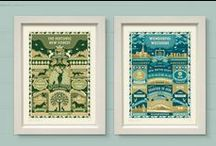 County Art Prints & Cards / A range of art prints and greeting cards from The Typecast Gallery.