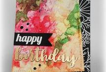 Cardmaking Inspirations / Cardmaking, Greeting cards with stamps, stencils, dies.