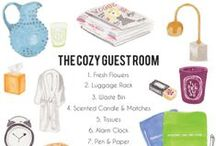 Organize ~ Guestrooms / Create an environment that makes guests feel welcome and comfortable in your home / by Angelique