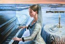 Michael Cheval / Michael Cheval (Mikhail Khokhlachev) is a Russian artist born in 1966 in Kotelnikovo, Russia.