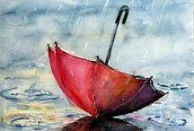 Umbrellas In Art
