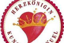 HerzKönigin - Kunst am Knäuel / Handgefärbte Wolle, handgefärbtes Garn, Lacegarn, Sockenwolle,