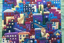House / Village quilts