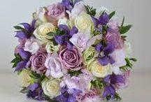 Dusky pinks and purple wedding flowers