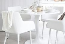 dining room @ modfarm / ♡ light bright dining rooms . . a juxtaposition of modern . . farmhouse . . rustic . . vintage . . industrial . . cottage . . coastal . . ≫≫≫ lots of white . . neutral . . gray . . black . . wood . . ≫≫≫ gather & connect over a meal ♡