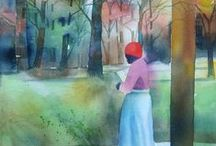 Urban Art on ETSY / The urban experience captured in watercolor.