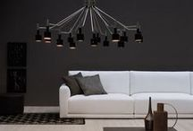 Living Room Ideas: Modern Ceiling Lights / The living room is the most used room in every house. Because lighting not only is important  for safety but it also is the key for ambience in every living room. Here you have a selection of living room ideas using modern ceiling lights. Take a look and get inspired!