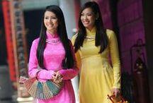 Fashion - Ao Dai traditional Vietnamese dress / Ao Dai, traditional Vietnamese dress