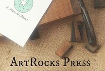 ArtRocks Press- Paper Goods! / I make letterpress and ScreenPrinted cards using vintage type and original designs! Thanks for dropping by... Etsy.com/shop/ArtRocks Press