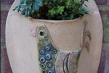 hand sculptured pottery
