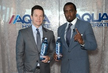 Mark Wahlberg, Sean Diddy, and other famous people with Aquahydrate.