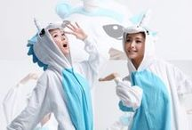 Blue Unicorn Animal Adult Kigurumi Onesie / A mythical and legendary creature that has a very magical and powerful reputation. A beautiful creature that spreads color to whatever it may pass along.