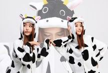 Cow Animal Adult Kigurumi Onesie / http://www.kigukawaii.com/collections/best-seller/products/cow-animal-kigurumi-onesie