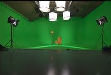 Our Old Studios at Waterloo / At our old location in Waterloo we had 4 different sized white and green screen studios for all your needs fully serviced by green rooms, make up and edit suites.