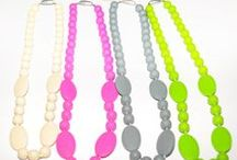 Bambiano Necklaces - Eliza / Bambiano Necklaces are made of 100% Food grade silicone. BPA free, Lead free and nontoxic. Fashionable for Mums and safe for teething babies to chew on. Pendants are washable and soft on baby's gums. Shop at www.bambiano.com