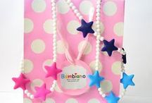 Bambiano Jr Necklaces - Tona Star / Bambiano Jr Necklaces are made of 100% Food grade silicone. BPA free, Lead free and nontoxic. Fashionable for trendy girls 3 years and above. Necklaces are colourful, washable and soft against the skin. Shop at www.bambiano.com