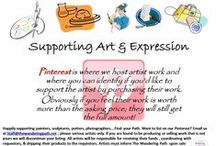 Supporting Art & Expression / This is where we will host artist work and where you can identify if you'd like to support the artist by purchasing their work. Obviously if you feel their work is worth more than the asking price; they will still get the full amount!