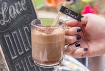 Summer Coffee Bar / Coffee is personal - layered, frothy and a sprinkle of chocolate shavings on top. From stylized sugar cubes to fun coffee stirrers, this coffee bar and the resulting drinks are sure to be nothing short of Gusto.
