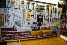 Pegboard Arranging / Arranging stuff in the shed.