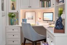 Home office ideas / Work smart and stylishly with these fun ideas for your home office, collected by the designing minds of IKD Inspired Kitchen Design.