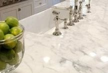 Countertop ideas / Countertop colors, surfaces, combinations... Great ideas for your kitchen counters!