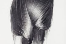 kreslenie vlasov / hair drawing / tutorials