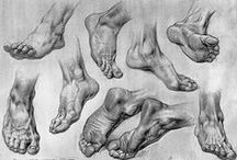 kreslenie nôh / feet drawing / tutorials