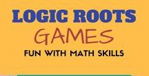 Math Games from Logic Roots / Logic Roots has developed original Math board games, Math app and card games to help kids get 20 times more math practice. These games are designed to make it easier for parents, homeschooler math and teachers to get their kids practice math. Play Logic Roots math games and master math skills. Discover the award-winning educational games from Logic Roots for students in kindergarten, first, second, third, fourth and fifth grade.