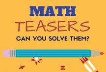 Math Brainteasers, Math games. Can you Solve them? / Stop here and give your brains that quick exercise. Home to some amazing and fun math brainteasers, math puzzles, math riddles.This Board is a collection of Math teasers, small Math games and Math puzzles - Basically, if you have time to kill, why not kill it productively? To be a pinner or know the answer, contact kanu@LogicRoots.com  All are Welcome! :) #homeschool math