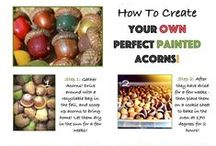 How to Paint Acorns / You can create these gorgeous acorns yourself at home - perfect for favors and fall decor!