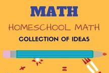 Homeschool Math - Math Game and Acitivities / Looking to include some DIY fun to the math lessons of your kids in elementary school? Your search ends here. Great math DIY math manipulatives, games and ideas to make math practice and learning fun for kids.